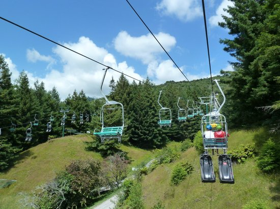 Skyline Rotorua: Chairlift back up after a luge run