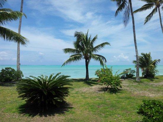 Hotel Matira : vue du bungalow hôtel Matira Bora Bora