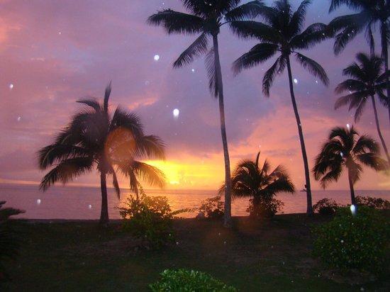 Hotel Matira : coucher de soleil vu de l'ôtel Matira Bora Bora