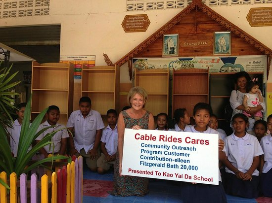 Canopy Adventures: the company enabled me to donate to the local school