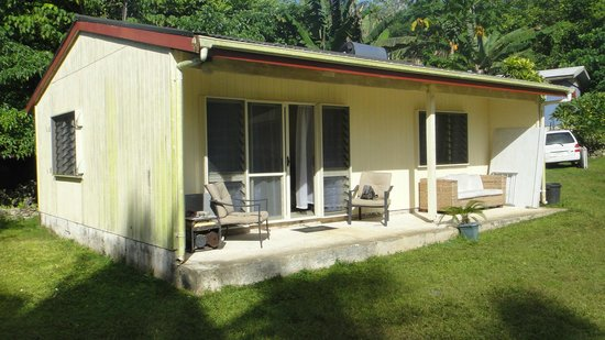 Kololi's Guest House: outside view of self-contained unit