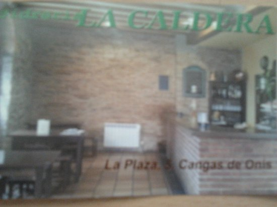 Sidreria La Caldera : Tarjeta de la sidrería