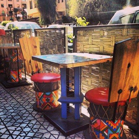 Cafe Mama Afrika : Outside seats