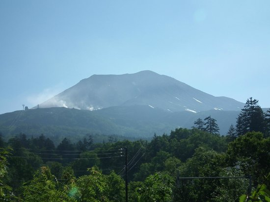Grand Hotel Daisetsu : Lo mejor, el volcán Asahi-dake.