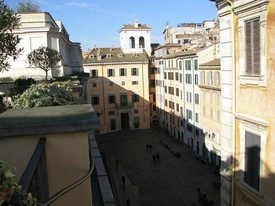 Albergo Cesari: the Piazza di Pietra from the terrace
