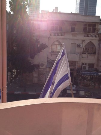 Chef Hostel Tel Aviv Montefiore : balkonuitzicht