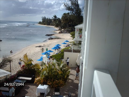 The SoCo Hotel-Adults Only All Inclusive : View along the beach from our balcony
