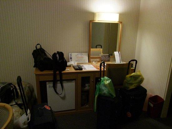 Hotel Grand Terrace Obihiro : Habitación espaciosa y cómoda.