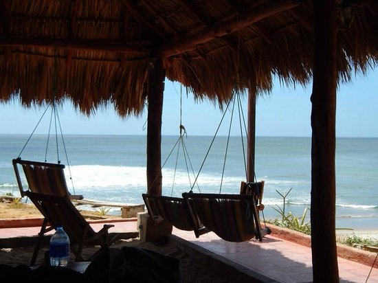 Popoyo, Nicaragua: View of beach from the bar