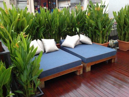 The Daulat Hotel: The pool deck