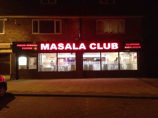Masala Club Indian Restaurant: Masala club at night