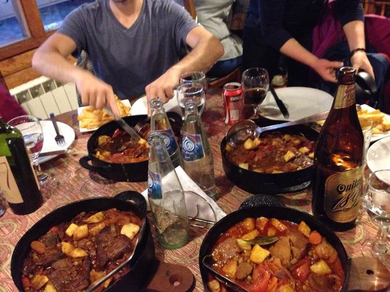 Isabel - Cocina al Disco: Table of stews! 4 orders for 8 people