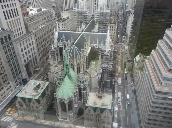 Lotte New York Palace: View from my room...St. Patricks Cathedral and Radio City just down the street