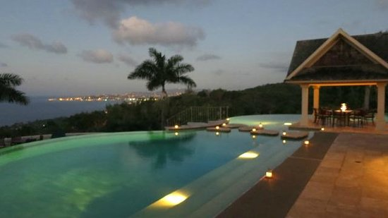 Silent Waters Villa: Pic from the bar overlooking the pool/montego bay