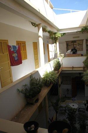 Herberge Keur Diame: il primo piano con le stanze