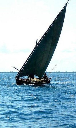 Subira House: Iconic Swahili Dhow under sail