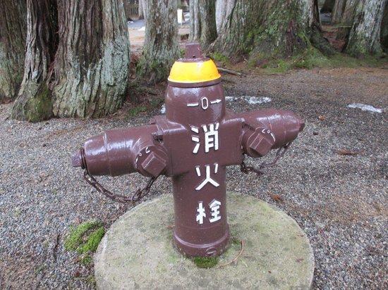 Mount Koyasan : 景観に配慮した消火栓