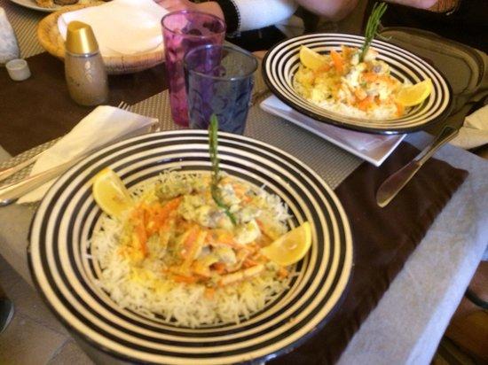 Tara Café : l'espadon avec son mélange de légume, délicieux...