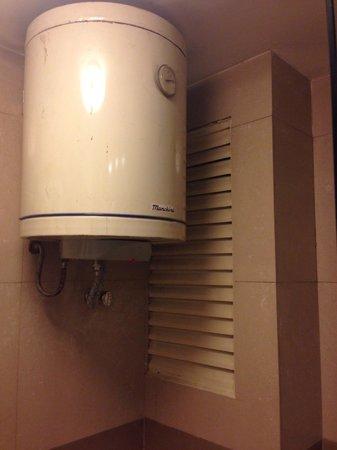 Hotel Convair : Aquecimento de água do chuveiro.