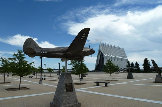 United States Air Force Academy: C-46 model at AFA Chapel