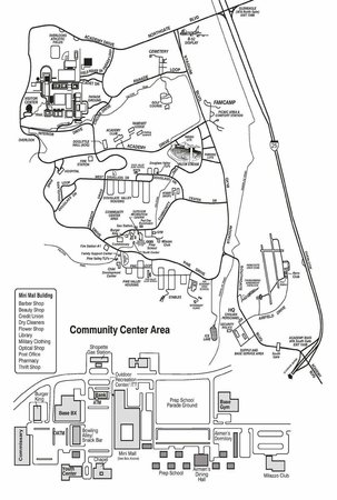 United States Air Force Academy: Map of the AFA