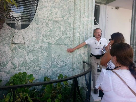"""The Official Art Deco Walking Tour by the Miami Design Preservation League: Locally quarried """"brain corral"""" used in construction."""