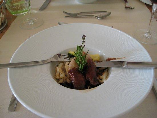 Strandhotel Glucksburg: Lækker mad.