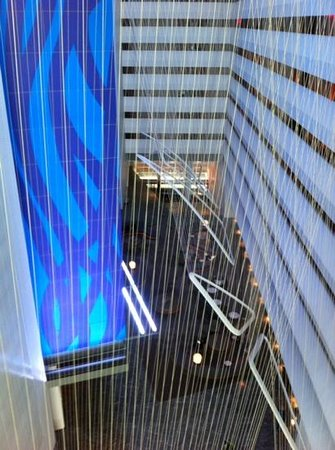 Conrad New York: view of lobby from 9th floor