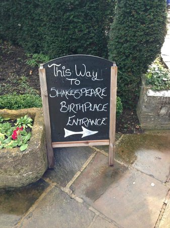 Shakespeare's Birthplace: Sign
