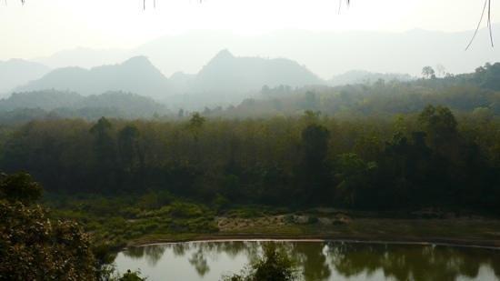 Zen Namkhan Boutique Resort: Le matin, depuis la terrasse du petit dejeuner !