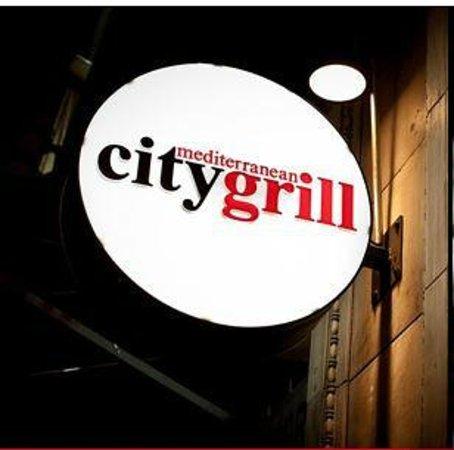 Mediterranean City Grill: Our sign