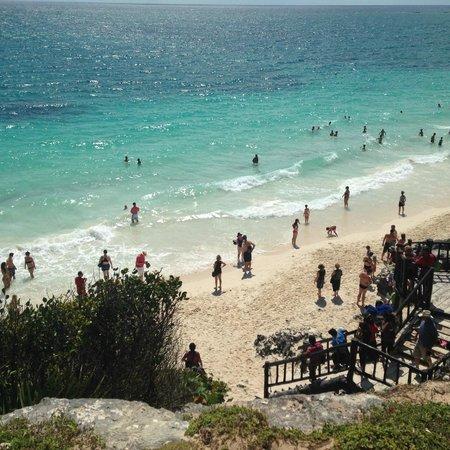 Mayan Beach: Mayan ruin Tulum beach