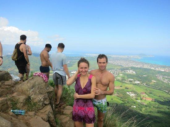 Olomana Three Peaks Trail: Top of Olomana