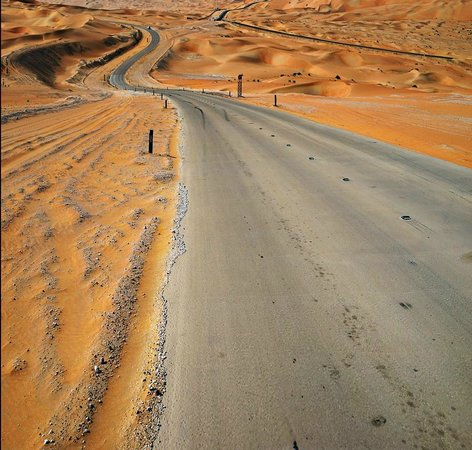Qasr Al Sarab Desert Resort by Anantara: Road through the Empty Quarter to Qasr Al Sarab