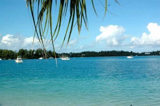 Grotto Bay Beach Resort: View from the beach