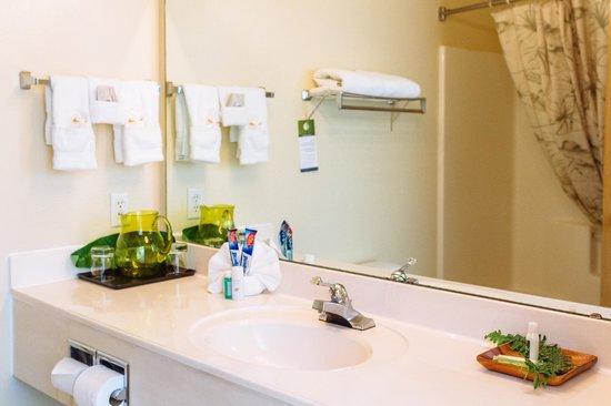 GuestHouse Inn & Suites Kelso/Longview: Spa Suite bathroom