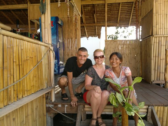 Romantic bamboo: with owners during their short break