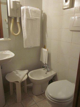 Hotel Boston: Lavabo y wc