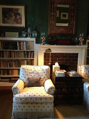 A Storybook Inn: Cozy library