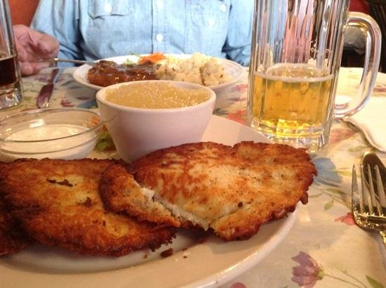 The German Cafe: The most delicious potato pancakes.
