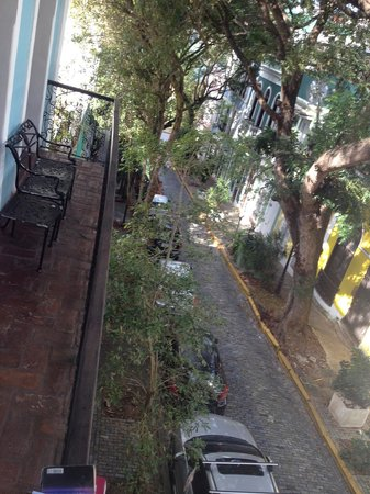 Caleta 64 Apartment: View of porch and street