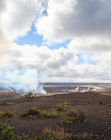 Bike Volcano: View from Bike Trip at Volcanoes Nat'l Park