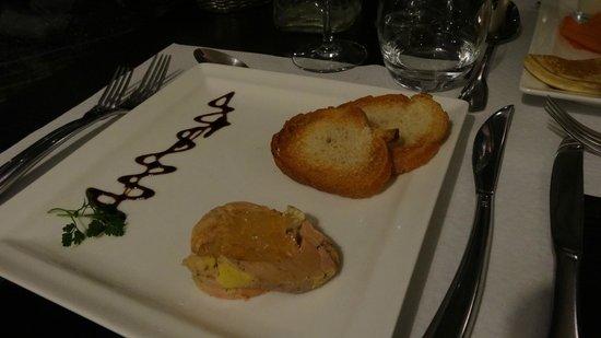 Restaurant Casino du Val André : foie gras en gelée de sauternes