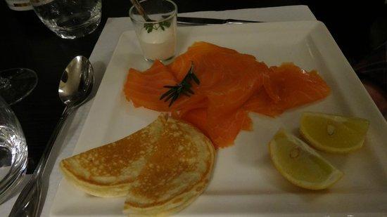 Restaurant Casino du Val André : assiette de saumon fumé