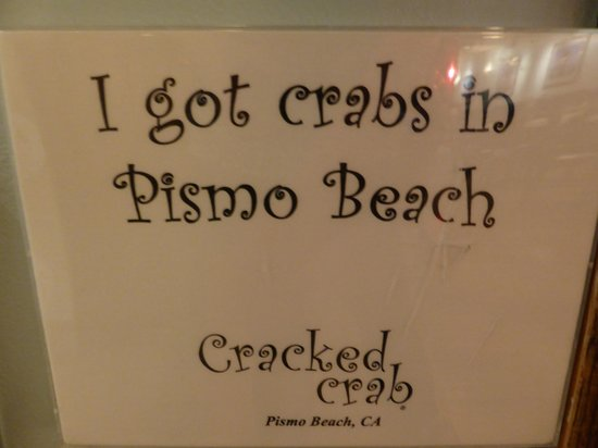 Cracked Crab : the humour!