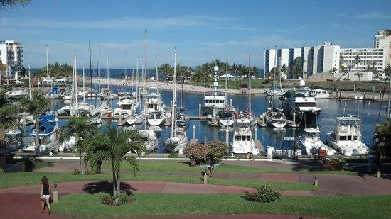 El Cid Marina Beach Hotel: view from restaurant