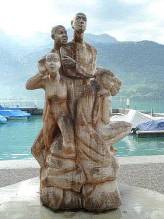 Brienzersee: Famous woodcarving sculpture in Brienz