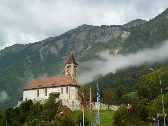 Brienzersee: The church in town of Brienz