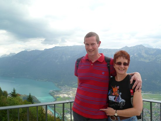 Ourselves from the Viewing Balcony on Harder Kulm