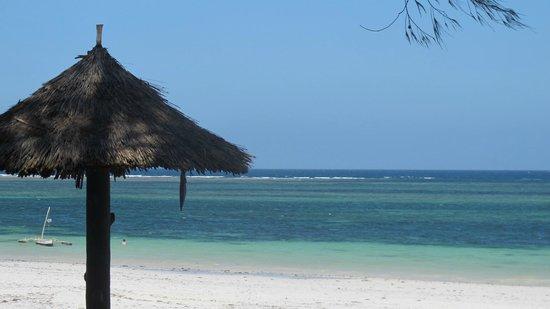 Diani Sea Resort : vue depuis la plage